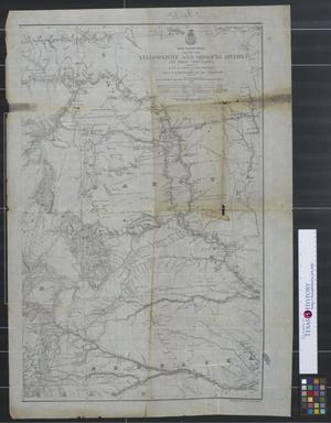 Primary view of object titled 'Map of the Yellowstone and Missouri Rivers and their tributaries.'.