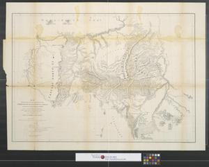Primary view of object titled 'Map showing the routes travelled by the command of Majr. E. Steen, U.S. Drags. against the Snake Indians in 1860.'.