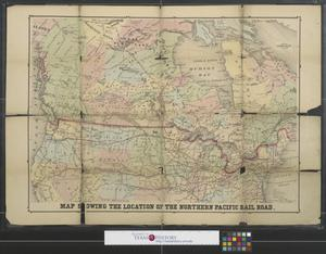 Primary view of object titled 'Map showing the location of the Northern Pacific Rail Road.'.