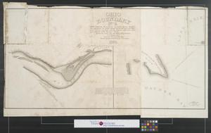 "Primary view of object titled 'Ohio boundary no. 2 : Map exhibiting the positions occupied on the Maumee Bay and river: viz: Turtle Island, the North Cape, and that above Toledo, together with the position of the ""east line,"" in its passage of the Maumee River surveyed under the direction of Capt. Talcott, U.S. Engineers, by Lieuts. Hood & R.E. Lee.'."