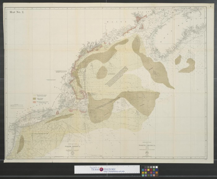 North east coast of North America: Map No. 2 - The Portal to Texas ...