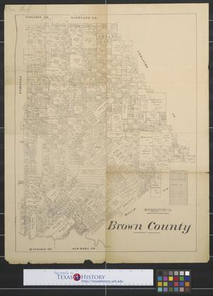Primary view of object titled 'Brown County [Texas].'.