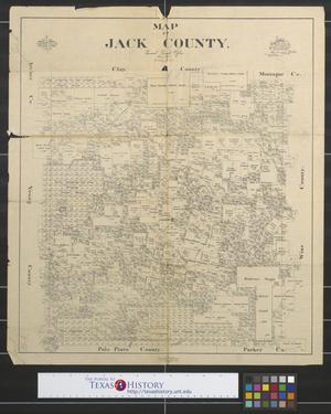 Primary view of object titled 'Map of Jack County, Texas'.