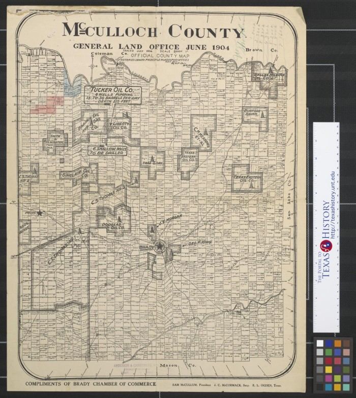 McCulloch County Texas Official County Map The Portal to – Texas Official Travel Map