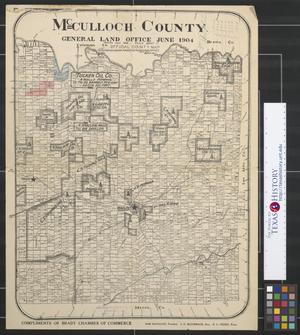 Primary view of object titled 'McCulloch County [Texas]: Official County Map'.