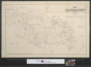 Primary view of object titled 'Map of San Patricio County, Texas'.