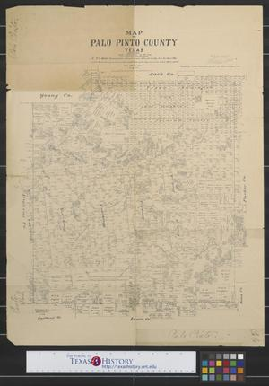 Primary view of object titled 'Map of Palo Pinto County, Texas'.