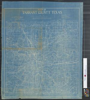 Primary view of object titled 'Map of Tarrant County, Texas.'.