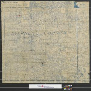 "Primary view of object titled 'Map of Stephens [County]:  An ""official"" accurate oil map up to date made and sold by Orlopp-Orlopp.'."