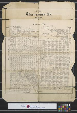 Primary view of object titled 'Map of Throckmorton Co., Texas'.