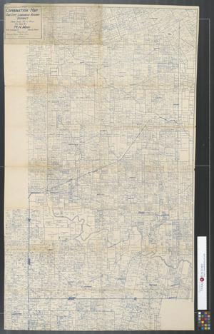 Primary view of object titled 'Combination Map Ore City - Longview - Kilgore District: portions of Upshur - Gregg - Rusk - Smith Counties.'.