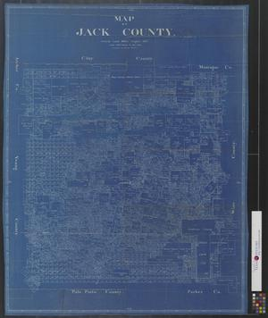 Primary view of object titled 'Map of Jack County.'.
