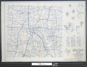 Primary view of object titled 'General highway map, Denton County, Texas.'.