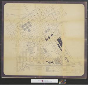Primary view of object titled '[Map of downtown Fort Worth]'.