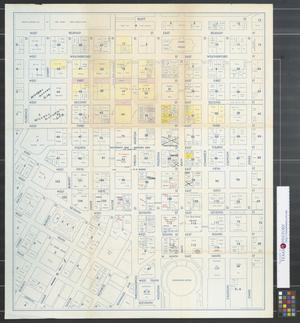 Primary view of object titled 'Occupancy map - business area, Fort Worth, Texas.'.
