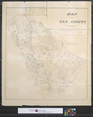 Primary view of object titled 'Map of Bee County [Texas].'.