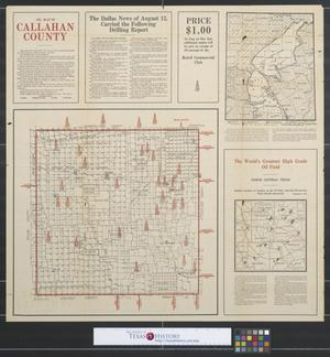 Primary view of object titled 'Oil map of Callahan County [Texas].'.