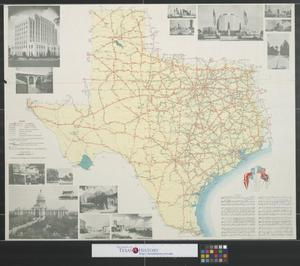 Primary view of object titled 'Official map of the highway system of Texas.'.