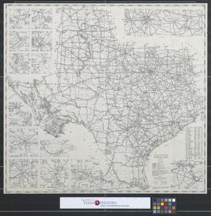 Primary view of object titled 'Texas Highway Department official map.'.