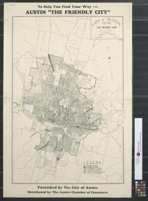 Primary view of object titled 'City of Austin, Texas, use district map.'.