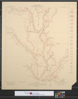 Primary view of object titled 'Map showing proposed system of levees for the protection of overflowed lands accompanying engineers report of 1912 : East Fork Trinity River, Dallas, Rockwall, and Kaufman counties, Barnes Bridge sheet.'.