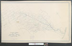 Primary view of object titled 'Water-shed of the Brazos River: Total drainage area 44,138 sq. miles [Sheet 2].'.