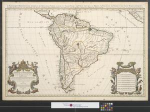 Primary view of Amerique meridionale divisée en ses principales parties ou sont distingués les vns des autres les estats suivant qu'ils appartiennent présentement aux François, Castillans, Portugais, Hollandois, & c