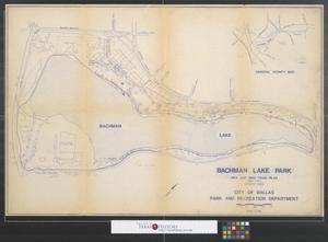 Primary view of object titled 'Bachman Lake Park: Hike and Bike Trail Plan'.