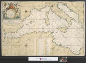 Primary view of object titled 'Nouvelle carte de la mer Mediterranee [Sheet 1].'.