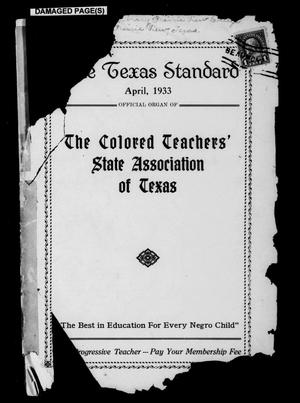 The Texas Standard, Volume 7, Number 1, April 1933