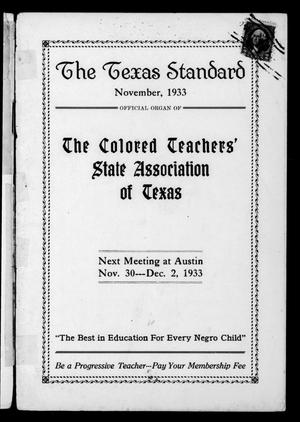 The Texas Standard, Volume 7, Number 2, November 1933