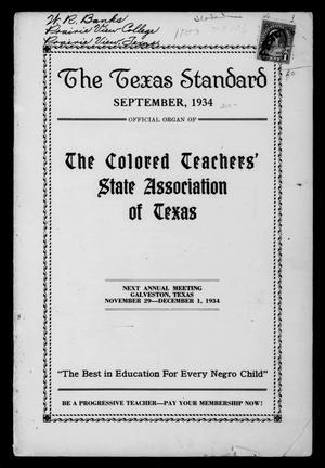 The Texas Standard, Volume 8, Number 2, September 1934
