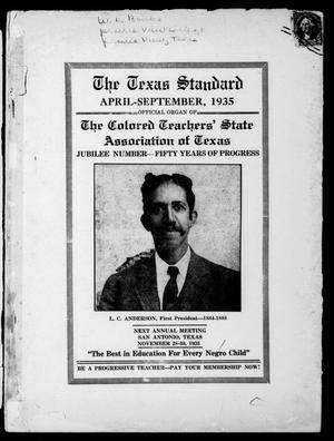 The Texas Standard, Volume 9, Number 1, April-September 1935