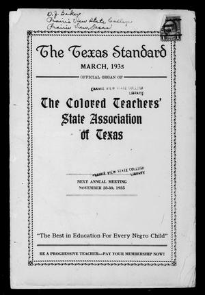 Primary view of object titled 'The Texas Standard, Volume 8, Number 4, March 1935'.