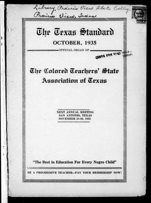 The Texas Standard, Volume 9, Number 2, October 1935