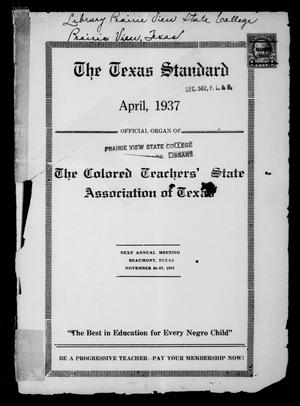 Primary view of object titled 'The Texas Standard, Volume 10, Number 4, April 1937'.