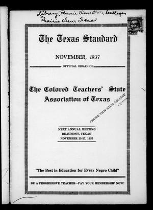 Primary view of object titled 'The Texas Standard, Volume 11, Number 3, November 1937'.