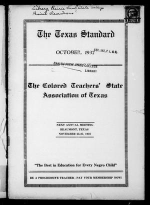 The Texas Standard, Volume 11, Number 1, October 1937