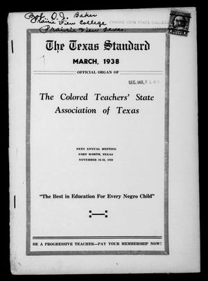 Primary view of object titled 'The Texas Standard, Volume 11, Number 4, March 1938'.