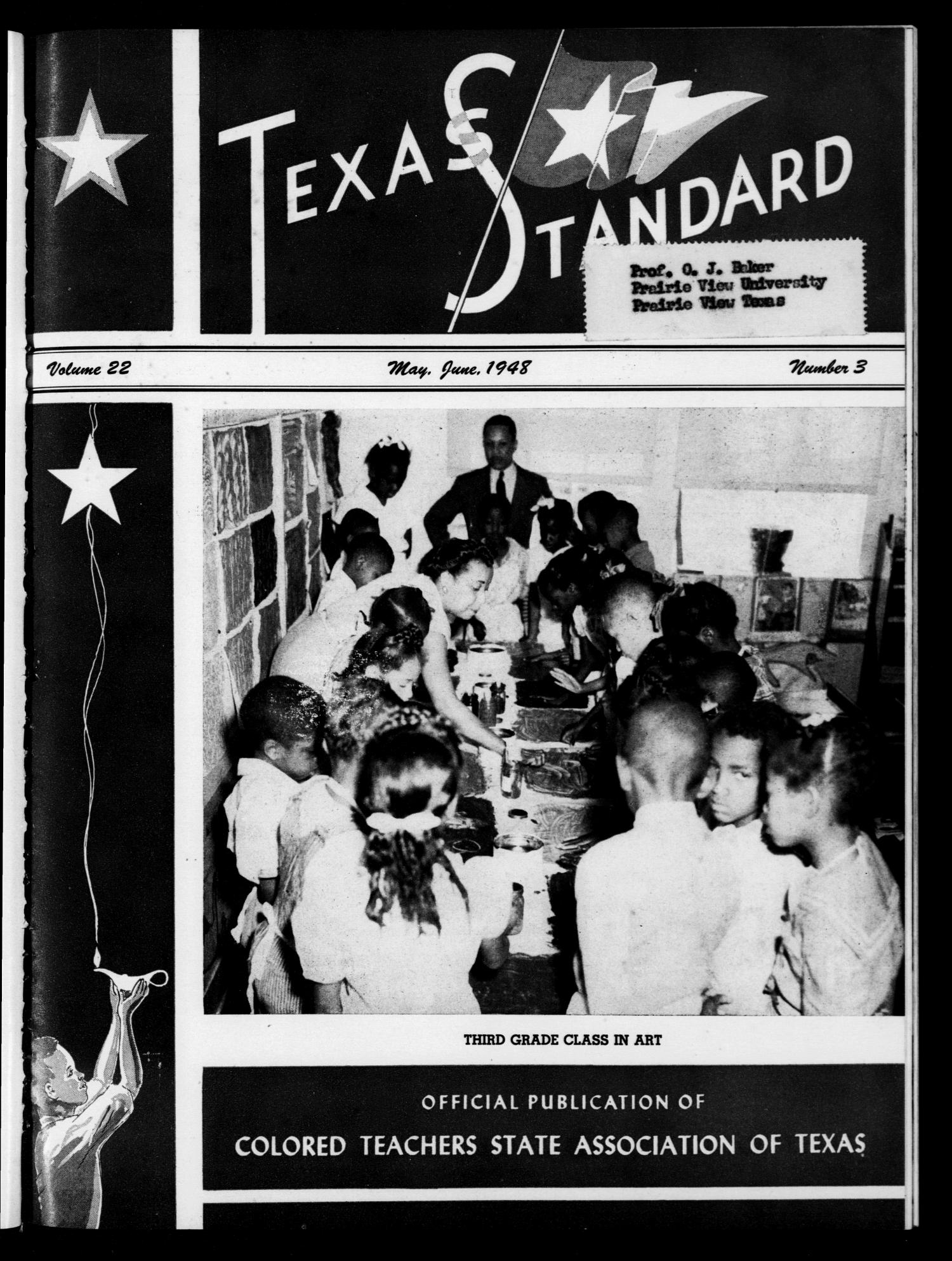 The Texas Standard, Volume 22, Number 3, May-June 1948                                                                                                      Front Cover