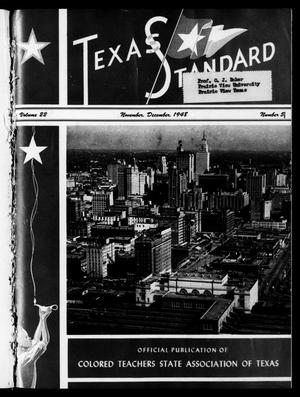 Primary view of object titled 'The Texas Standard, Volume 22, Number 5, November-December 1948'.