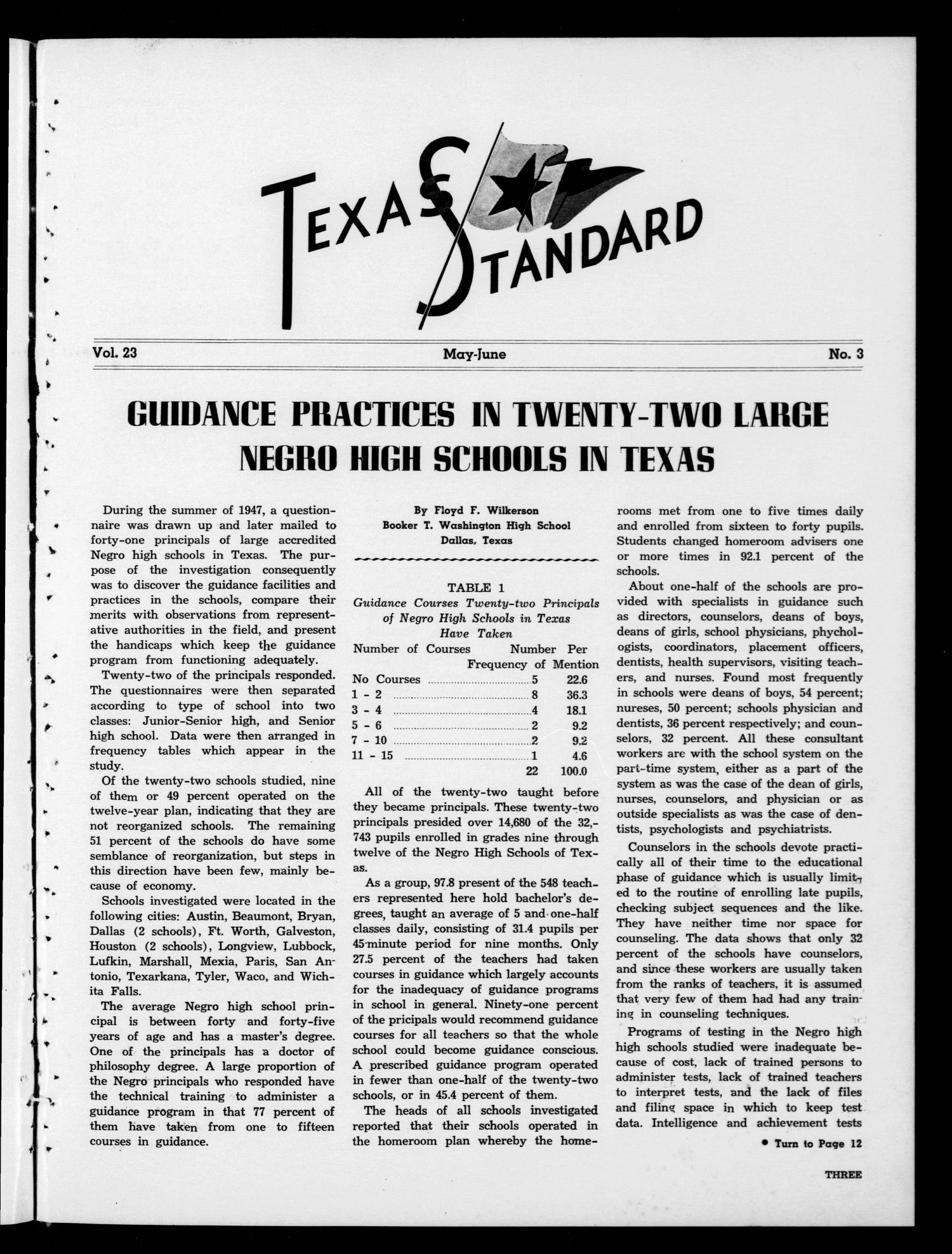 The Texas Standard, Volume 23, Number 3, May-June 1949                                                                                                      3