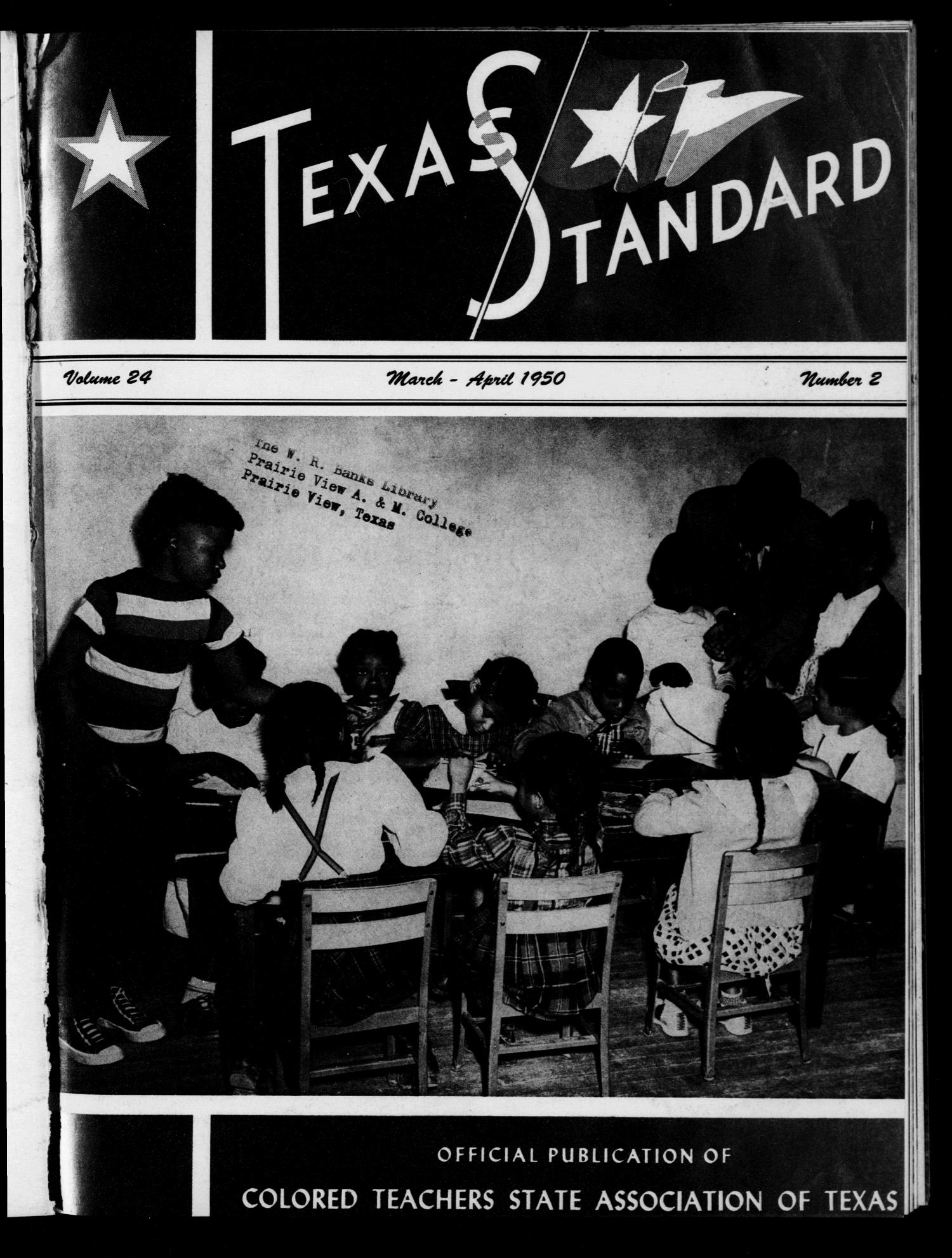 The Texas Standard, Volume 24, Number 2, March-April 1950                                                                                                      Front Cover