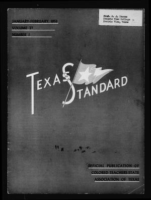 Primary view of object titled 'The Texas Standard, Volume 27, Number 1, January-February 1953'.