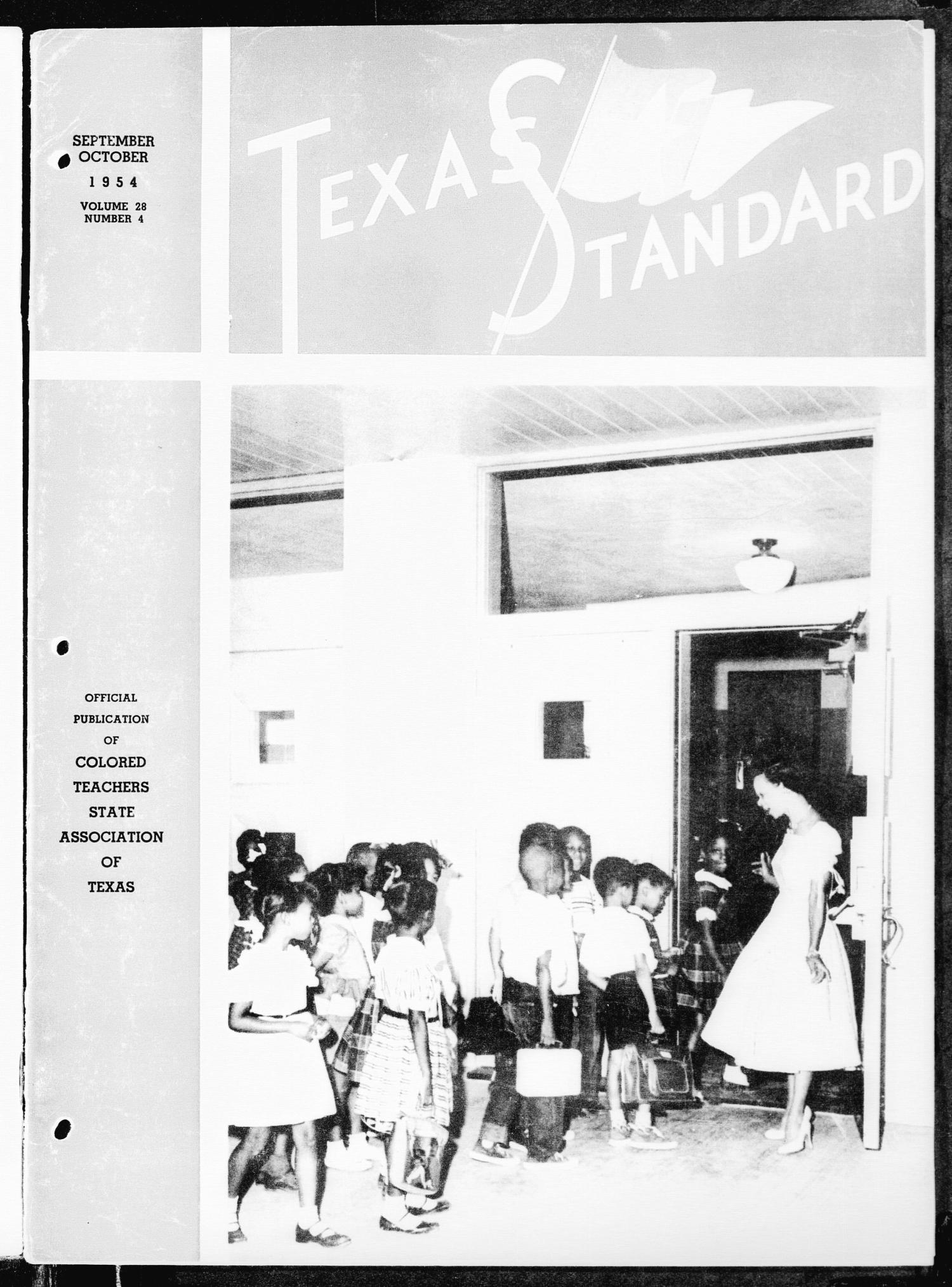 The Texas Standard, Volume 28, Number 4, September-October 1954                                                                                                      Front Cover