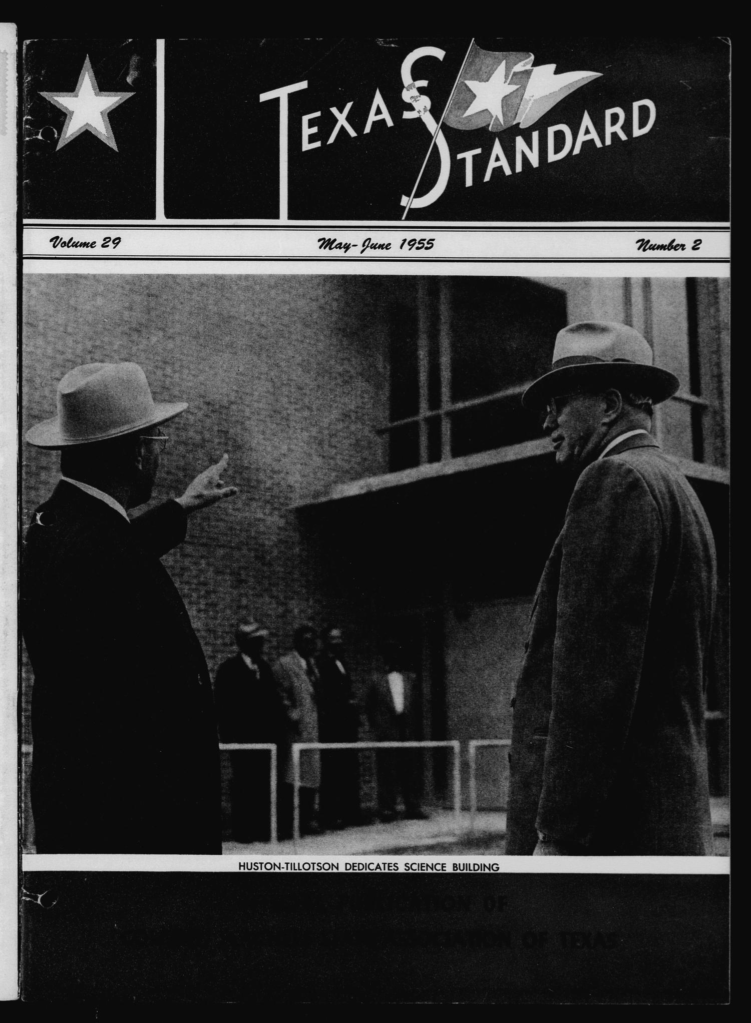The Texas Standard, Volume 29, Number 2, May-June 1955                                                                                                      Front Cover