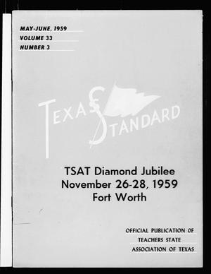 Primary view of object titled 'The Texas Standard, Volume 33, Number 3, May-June 1959'.