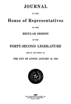 Primary view of object titled 'Journal of the House of Representatives of the Regular Session of the Forty-Second Legislature of the State of Texas, Volume 2'.