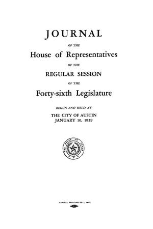 Primary view of object titled 'Journal of the House of Representatives of the Regular Session of the Forty-Sixth Legislature of the State of Texas, Volume 2'.