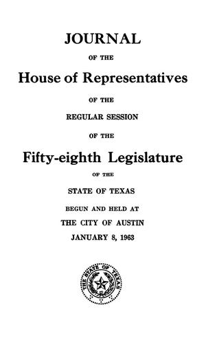 Journal of the House of Representatives of the Regular Session of the Fifty-Eighth Legislature of the State of Texas, Volume 2
